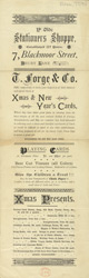 Advert for Ye Olde Stationers Shoppe